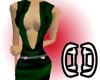 .D. Low-cut green satin