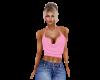 Pink Cowl Top