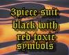 black red toxic 3pcsuite