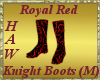 Royal Red Knight Boots