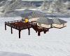winter log cabin home