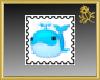 Cute Whale Stamp