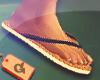 ₲ Bleu Sandals