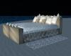 White Beach Bed
