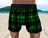 Green PJ Shorts Plaid M