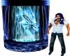blue dragon fountain