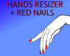 hands resizer red