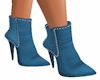 (DR) BLUE ANKLE BOOTS