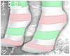☯Pink/Mint-Socks☯