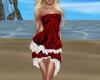 ruffle dress red