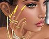 [M] Yellow Nails + Rings