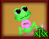 Frog Pet Ribbit Pink