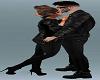 Romantic kiss on head
