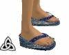 Blue kimono sandles