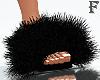 Fur slides black 2021