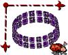 Bezel Bracelet Purple L