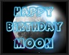 MOON bday floor sign