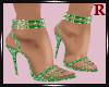 Glitter Green Heels