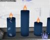 Candles & Vase:Y