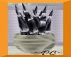Black Silver Vase