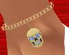 *TJ* Skull Anklet G BlL