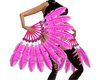 Pink Feather Fans