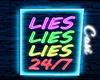 Lies, Lies | Neon Lamp