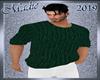 !b Knit Sweater HGreen