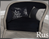 Rus Navy Curved Chair