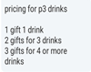 P3 Drink Pricing