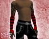 Black/red fishnets