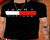 100-Tommy H BLK Tee-100