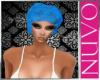 blue salon dye cap
