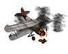 Crashed Aeroplane