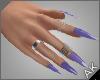 ~AK~ Nails: Silver/Iris