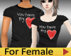 Couple Tee LOVE - Female