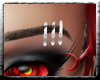 (RR) Snow Eyebrow Rings