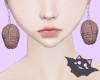 ☽ Earrings Brain