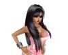 Long Black Glossy hair