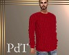 PdT Dk Red Sweater M