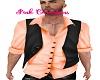 Shirt & Vest Peach
