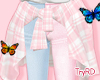 🦋 Pink Waist Jacket