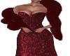 Frina-Flame Gown/Boa