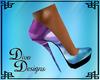Blue/Purple Rave Heels