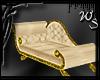 Cream & Gold Chaise