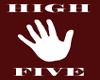 Red High Five Hoody