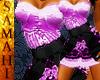 {S} Lace dress purple