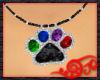 Rainbow Paw Necklace
