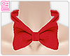 [Y] Red bow neck tie