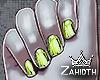 Neon Green Chrome Nails